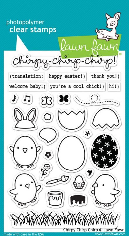 LF1046 ~ CHIRPY CHIRP CHIRP ~ CLEAR STAMPS BY LAWN FAWN